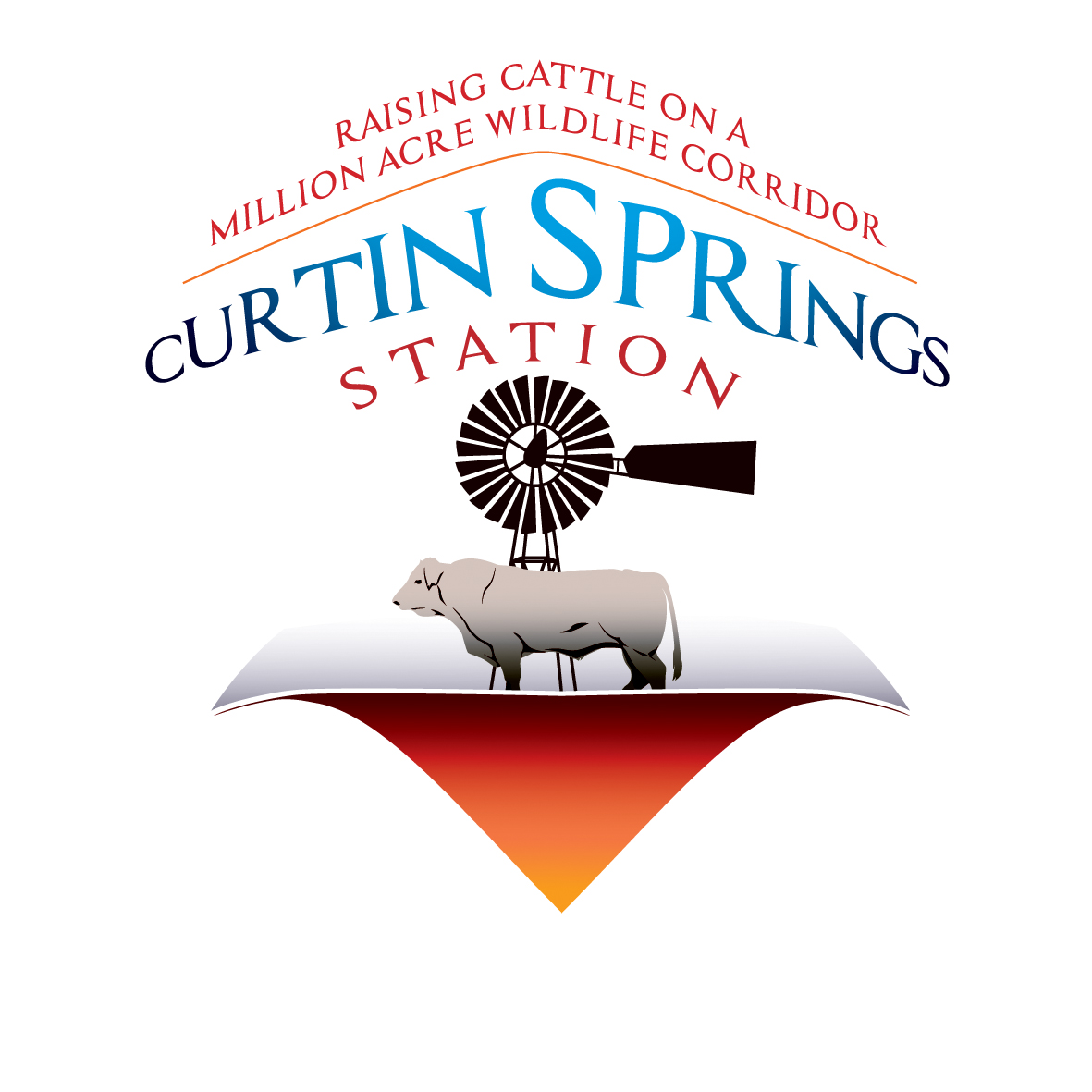 1190- Master Logo Tagline - Curtin Springs Station - CMYK