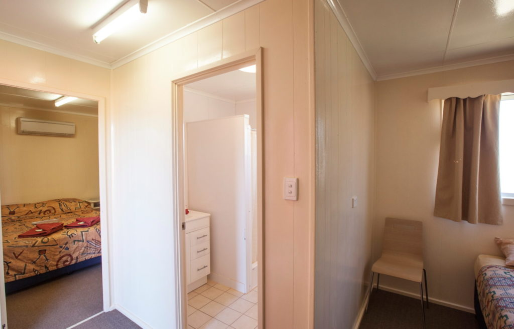 Triple ensuite accommodation room at Curtin Springs